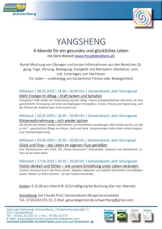 YangSheng Gesunde Gemeinde Schwertberg, Doris Wansch