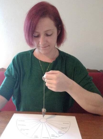 Pendeltafel,, Radiästhesie, pendeln lernen